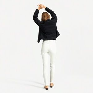 Free people high rise white seam skinny jeans